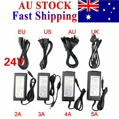 AC100-240V to DC 24V Power Supply Charger Transformer Adapter For LED Strips AU