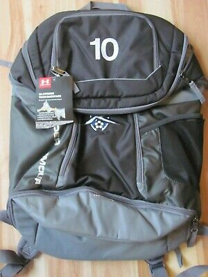 104558da21b Under Armour Storm Striker Backpack Soccer Gray/Silver w/ Embroidered #10 &  Logo