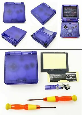 GBA SP Transparent Blue Clear Shell Housing Case For Nintendo Gameboy Advance SP