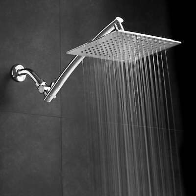 Razor Mega Size 9-inch Chrome Face Square Rainfall Shower with Arch Design and