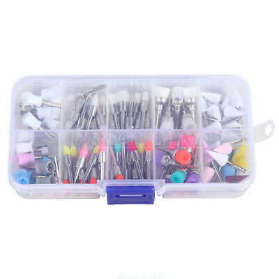 100X Dental Prophy Brush Cup Rubber Disposable Polisher Latch Type Mixed Color