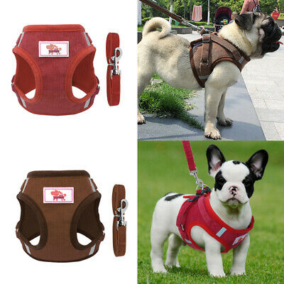 Soft Dog Puppy Pet Training Harness No Pull Outdoor Walking Leash Strap Vest