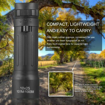 Compact Lightweight Mini Monocular Telescope10*25Camping Hiking ZS