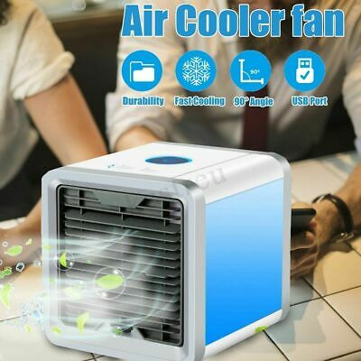 Portable Air Cooler Humidifier Purifier Colour Changing Led Fan Usb Office New