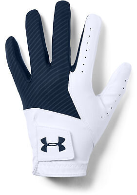 *NEW FOR 2019* Under Armour Medal Golf Glove - White/Navy (S,M,ML,L,XL)