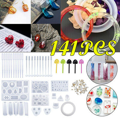 DIY Resin Casting Molds Silicone Jewelry Pendant Making Pendant Mould Tray Craft