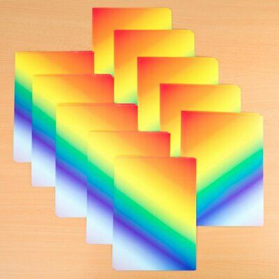 230gsm for cards scrapbooking etc NEW Rainbow Card 50 x A4 Sheets
