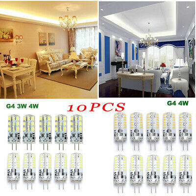 10PCS G4 LED Bulb DC12V halogen bulb Capsule light SMD Energy Saving Lamp 3W 4W
