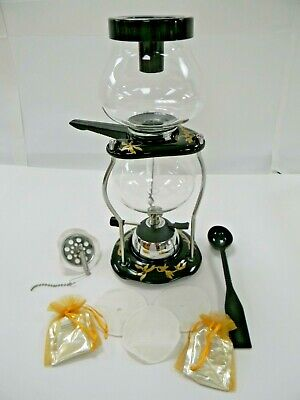 Yama Glass Tabletop Coffee Siphon with Butane Burner. Everything included!!!
