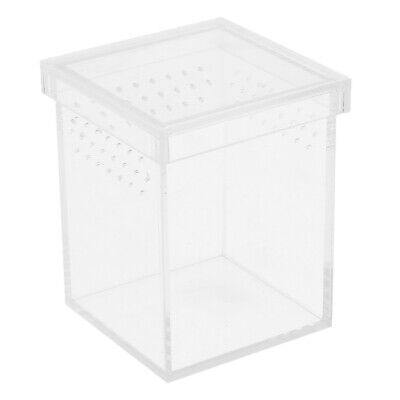 Reptile Turtle Acrylic Transparent Box Insect Reptile Breeding Feeding Case