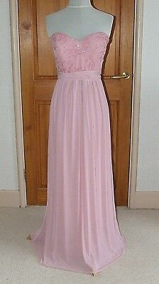 f41e1ccc5f97 Lipsy Evangaline Blush Multiway Bridesmaid Party Evening Maxi Dress Uk14  Prom