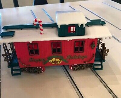 G Scale 1986 New Bright Happy Holidays Caboose Model Railroads & Trains