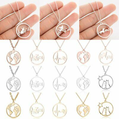 New Stainless Steel Gold Hollow Round Animal Dog Pendant Necklaces Holiday Gift