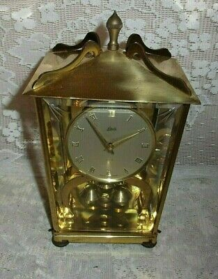 Antique Made In Germany Aug Schatz And Son Brass 400 Day  Two Jewels Unadjusted