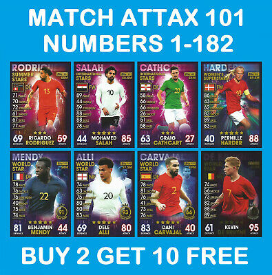 Match Attax 101 Summer International  World Star 2019 cards