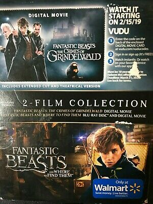 New / sealed Fantastic Beasts and Where To Find Them + Crimes 2 -Film Collection
