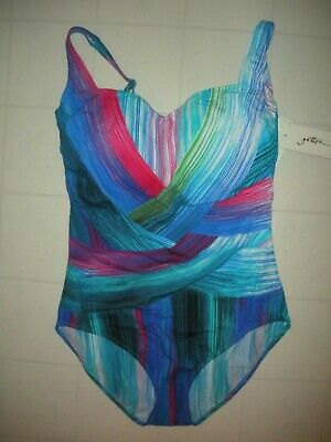 99777f46f4789 GOTTEX 2018 Multicolor Festival 1 Pc Sweetheart Neck Style Swimsuit Sz 14  NWT
