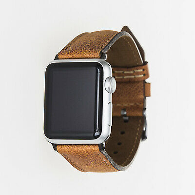 Apple Watch Band, Handmade Leather for iWatch 1 2 3 4 5, 38mm, 40mm, 42mm, 44mm