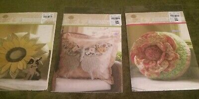 3 Anna Griffin Pillow Sewing Patterns Sunflower Butterfly Peony Designer