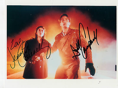 BILLY CAMPBELL & JENNIFER CONNELLY autograph  8x10  ** ROCKETEER movie scene**