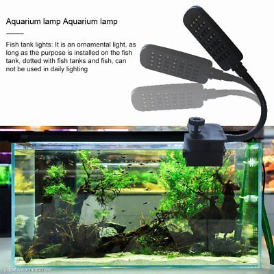 LED Aquarium Fish Tank Clamp Clip Water Plants Grow Adjustable Lighting kG