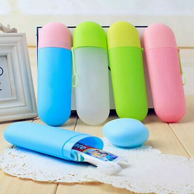 Portable Travel Hiking Camping Toothbrush Protect Holder Case Box Tube Cover ACE