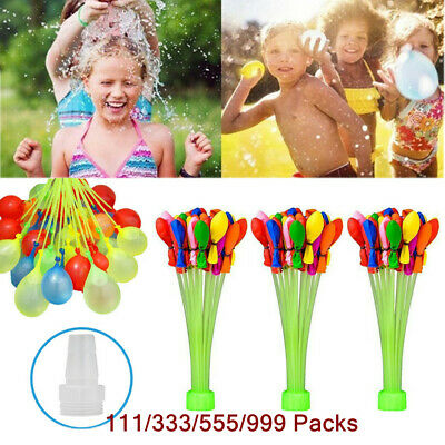 111-999Pcs Fast Fill Magic Water Balloons Self Tying Bunch O Balloon Bombs Toys
