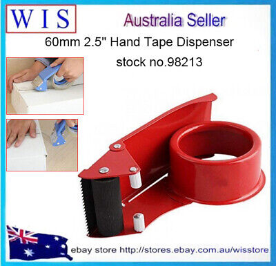 """Package Parcel Handheld 2"""" Adhesive Tape Dispenser Cutter Red-98213"""