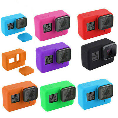For GoPro HERO 7 Black Silicone Camera Case Protective Skin Cover With Lens Cap
