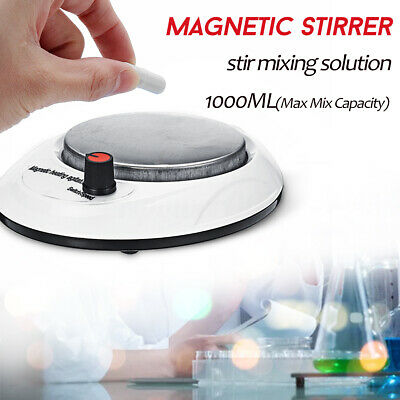 1000ml Magnetic Stirrer W/ Stirer Bar 2200rpm For Laboratory School Mixer Plate