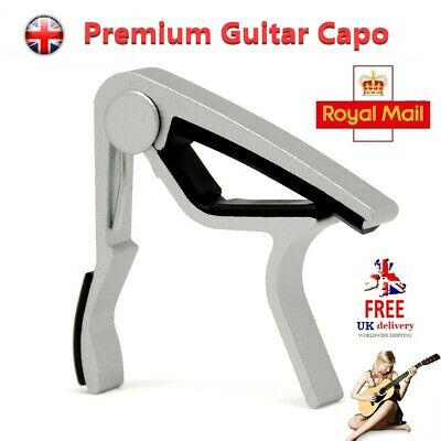 Premium Guitar Capo: Nordell 'Quick Change' Trigger Electric Clamp for Acoustic.