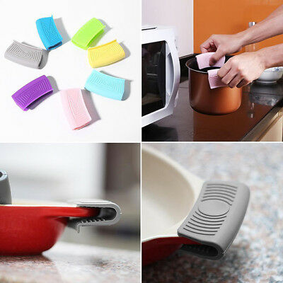 Silicone Hot Pot Holder Sleeve Pot Glove Heat Resistant Pan Handle Cover Grip