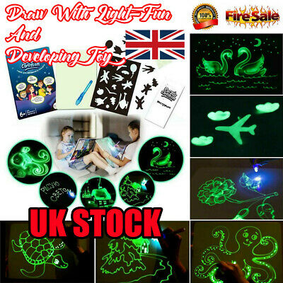 UK Educational Draw With Light Fun And Developing Toy Drawing Board Magic Draw