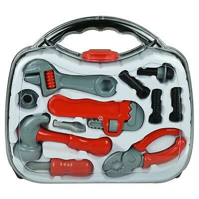 Kids Toy Tool Set In Carry Case Pretend Role Play Kit Builder Workshop Games