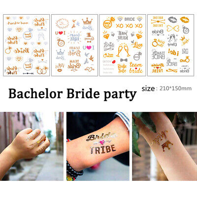 Bachelor Party Team Bride Tattoos for Hen Party Hen Party Accessories 20 Pack Temporary Tattoos Bride Tattoos Hen Party Tattoos Wedding /& Bride