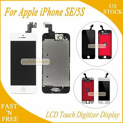 LCD Display Touch Screen For iPhone SE 5S Digitizer Replacement Black White KY