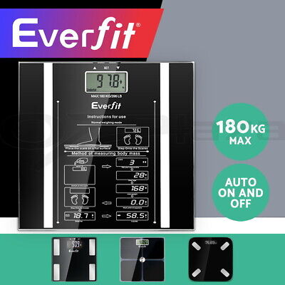 Everfit 180KG Electronic Digital Body Fat Scale Scales Bathroom Monitor Tracker