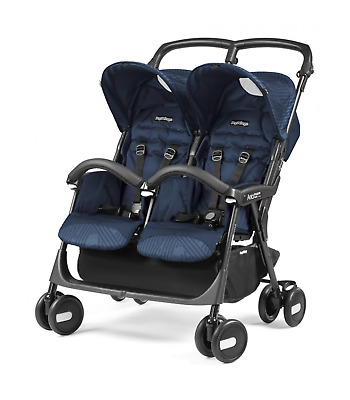 Passeggino Gemellare Peg Perego Aria Twin Shopper Geo Navy