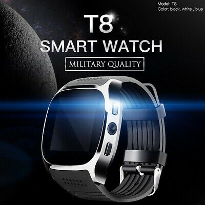 2019 Bluetooth T8 Smart Watch Pedometer GSM SIM for iPhone Samsung LG Phone Mate