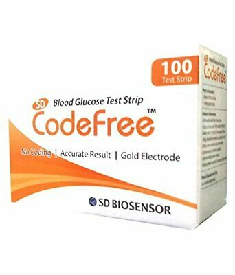Sd Codefree Blood Glucose Monitoring System,100 Strips free from INDIA FREE SHIP
