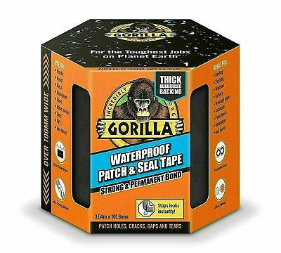 Gorilla Tape Waterproof Patch And Seal Strong Permanent Rubberised Roof Leak Fix