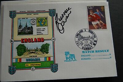 England V Rumania 1981 First Day Cover Signed Russell Osman