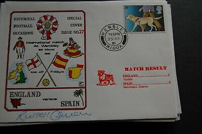 England V Spain 1981 First Day Cover Signed Russell Osman