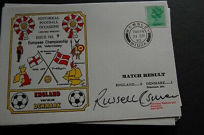 England V Denmark 1983 First Day Cover Signed Russell Osman 2