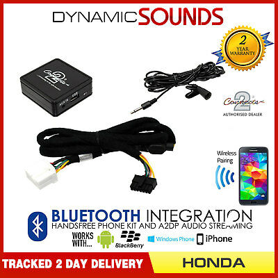 Bluetooth Music Streaming A2DP Adaptor Handsfree Wirless Kit Honda S2000 2001>