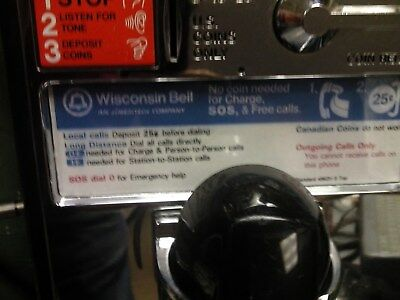 AT&T Wisconsin Bell Payphone Vintage Western Electric Working For Home Use Only