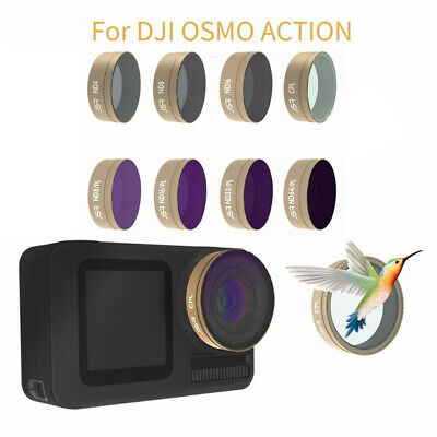 8PC CPL+ND4+ND8+ND16+ND8PL/16/32/ND64PL Camera Lens Filters For DJI OSMO ACTION
