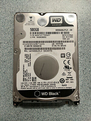 "Western Digital Black WD5000LPLX 500GB 7200RPM SATA 2.5"" Laptop Hard Drive"