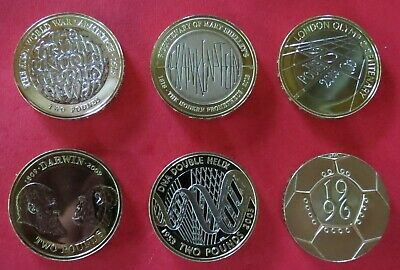 1986-2018 Uk £2 Two Pound Coins Proof & Bu Brilliant Uncirculated - Select Dates