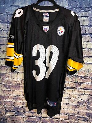 7f63a93edf1 Reebok NFL Pittsburgh Steelers Willie Parker #39 Mesh Football Jersey Size  M🔥🔥